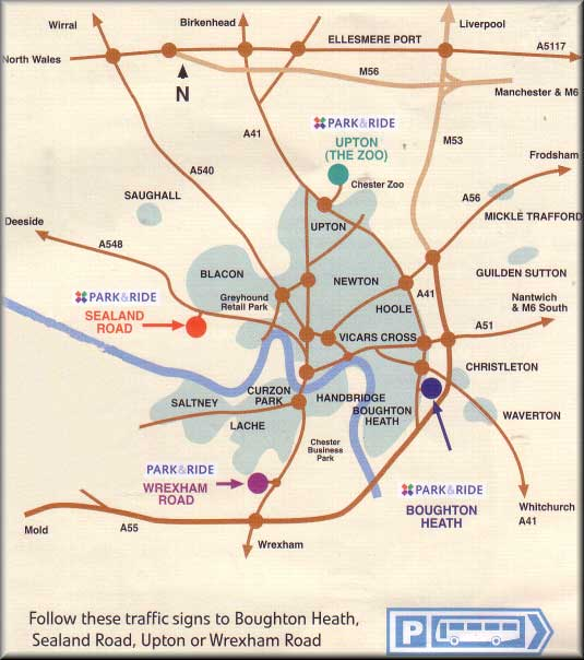 Chester Car Parks Map
