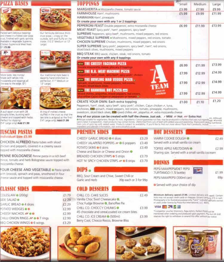 Chester Tourist Pizza Hut Delivery