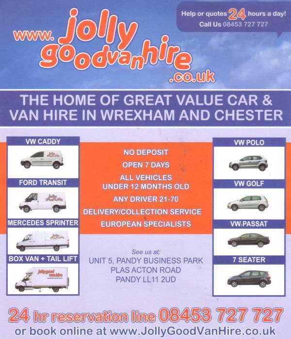 Jolly Good Car Van Hire Deeside