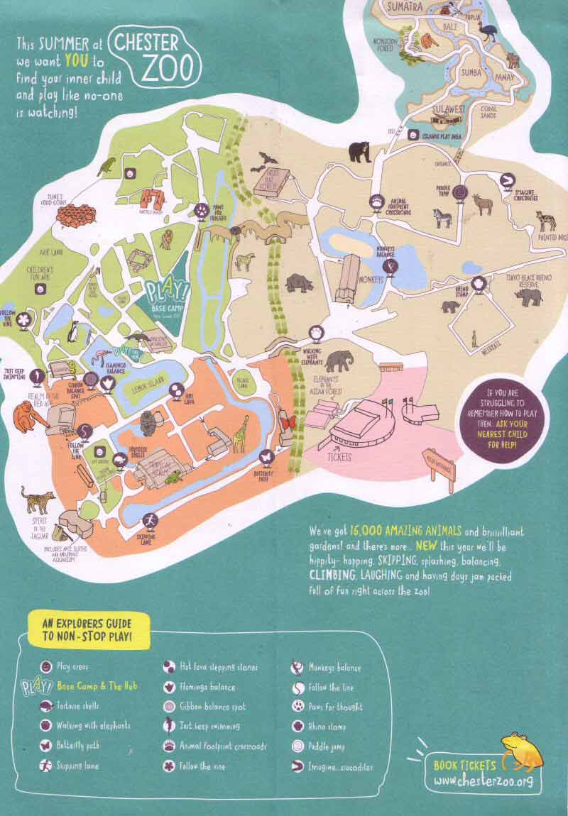Map Of Chester Zoo England.Chester Tourist Chester Zoo Main Page