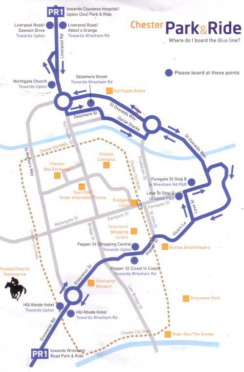 Chester Tourist Park and Ride More Information