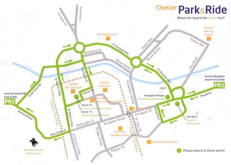 Chester Tourist Park and Ride Boughton Heath