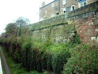 Surviving part of the roman fortess wall