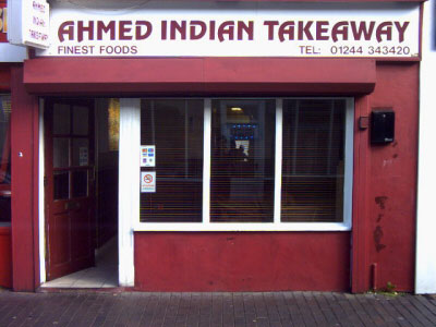 Ahmed Indian Takeaway 76 Brook Street Chester 01244 343 420