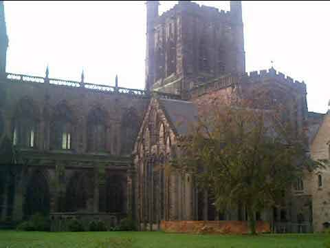 Chester Cathedral taken from the Kaleyards