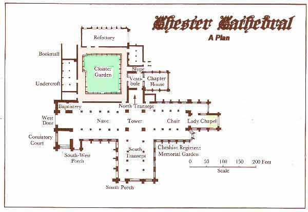 Chester Cathedral Plan