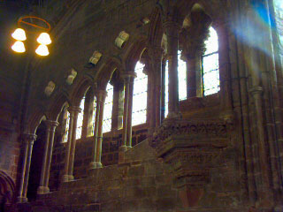 Chester Cathedral Refectory. Please click for the Cathedral Web Site