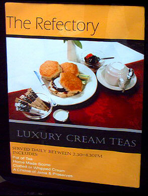 Cathedral Refectory. Luxury Cream Teas