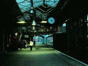 Chester Station at night