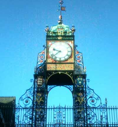 Close up of the Eastgate Clock