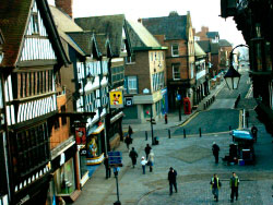 A view from the Eastgate looking East down Foregate Street