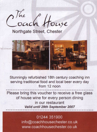 Coach House. Please click for Web Site