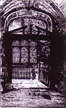 The Chapel of St. Anselm. An engraving around 1860