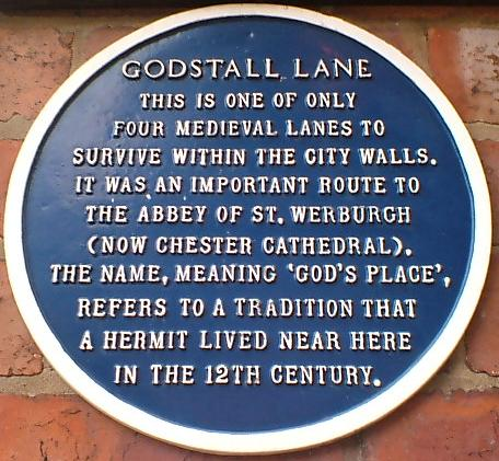 Godstall Lane Blue History Sign