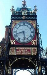 Chester's Iconic Eastgate Clock on Eastgate Street