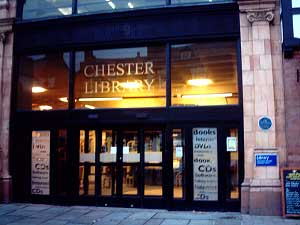 Chester Central Library from Northgate Street