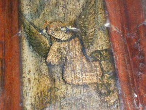 St Peter's Chester Medieval Frescos Angel Detail