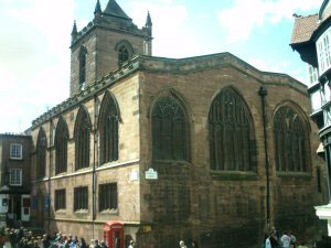 St Peter's Church Chester located at the Cross
