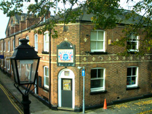 The Albion Inn is hidden half way down Park Street next to the City Wall, near Newgate