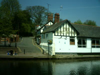 The Boat House Inn located at the end of the Groves