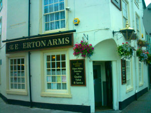 Egerton Arms is located on Brook Street near the Railway Station