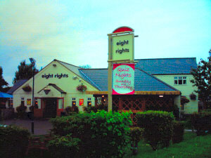 Eight Rights Pub is located outside the City Centre