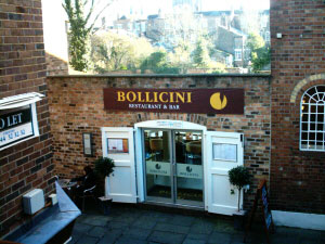 Bollicini Restaurant/Bar located in Rufus Court. Click here for Web Site www.bollicini.co.uk