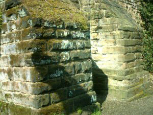 The Roman Gardens - Buttresses on the City Wall