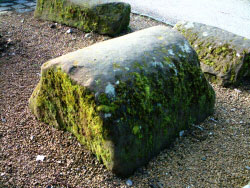 A coping stone from the Fortress Wall
