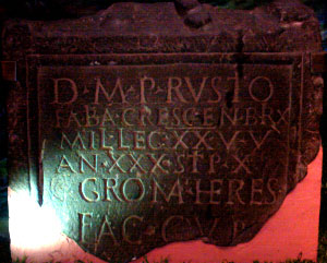 Roman Stone 2 - To the spirits of the departed and to Publius Rustius Crescens
