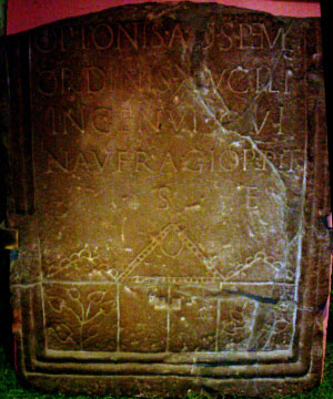 Roman Stone 8 - Optio Ad Spem Ordinis in the century of Lucilius Ingenus, who died by shipwreck