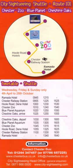 City Sightseeing Shuttle Bus Route 101