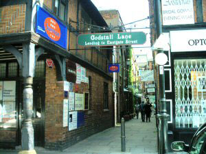 The Entrance to Godstall Lane.<br>Click here for more Information.