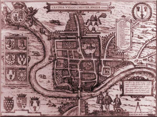 A map of Olde Tyme Chester