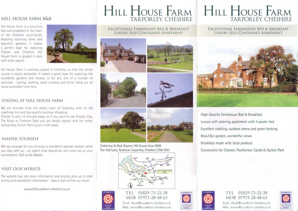 Chester Tourist - Hill House Farm