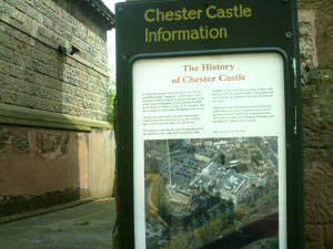 Chester Castle Information board