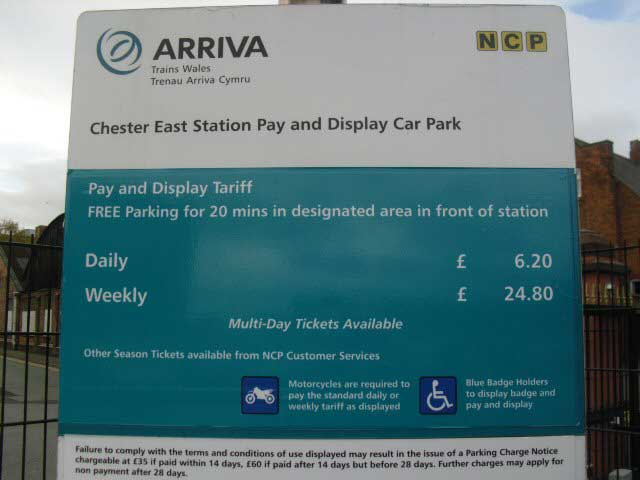 Chester Station Parking Charges 2015